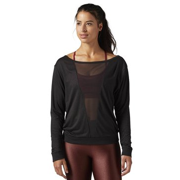 Reebok Women's Mesh Long Sleeve Tee