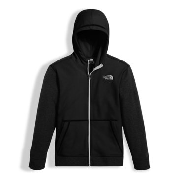 The North Face Big Boys' Glacier Full Zip Hoodie, Black