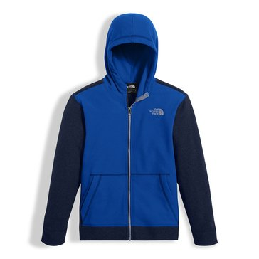 The North Face Big Boys' Glacier Full Zip Hoodie, Bright Cobalt