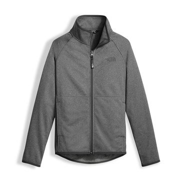 The North Face Big Boys' Tech Glacier Full Zip Hoodie, Medium Grey