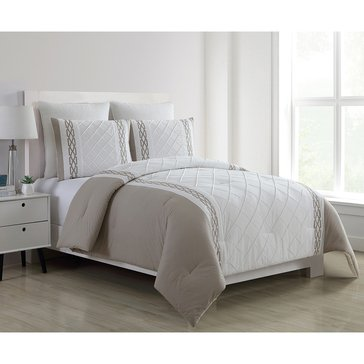 Harbor Home Platinum Collection 5-Piece Comforter Set, Walker Taupe - Queen