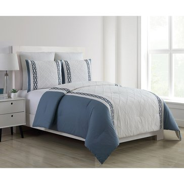 Harbor Home Platinum Collection 5-Piece Comforter Set, Walker Slate - King