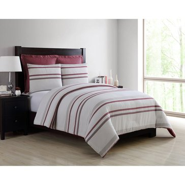 Harbor Home Platinum Collection 5-Piece Comforter Set, Oliver Wine - Queen