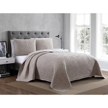 Harbor Home Platinum Collection 3-Piece Quilt Set, Nikola Taupe - King
