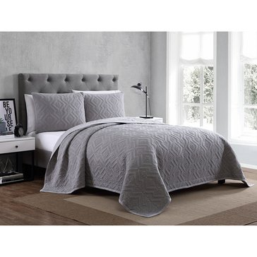 Harbor Home Platinum Collection 3-Piece Quilt Set, Nikola Grey - Queen