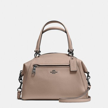 Coach Polished Pebble Leather Prairie Satchel Stone