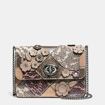 Coach Patchwork Snake Bowery Crossbody Multicolor