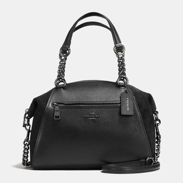 Coach Mixed Leather Chain Prairie Refresher Black