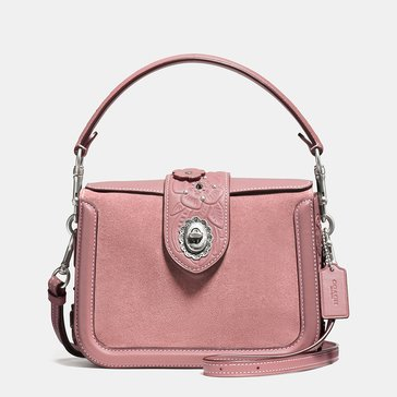 Web Exclusive! Coach Tea Rose Applique Page Crossbody Dusty Rose