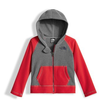 The North Face Toddler Boys' Glacier Full Zip Hoodie, Medium Grey