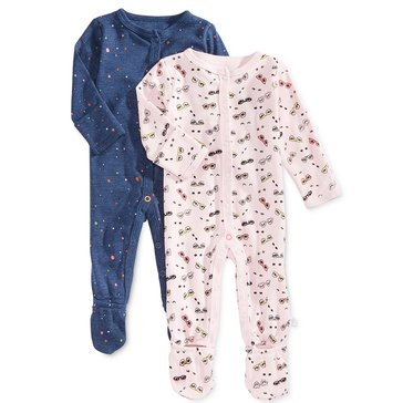 Rosie Pope Baby Girls' 2-Pack Coveralls