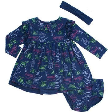 NBG RP DRESS SET WORD BUBBLE420 BLUE MED OTHE12M