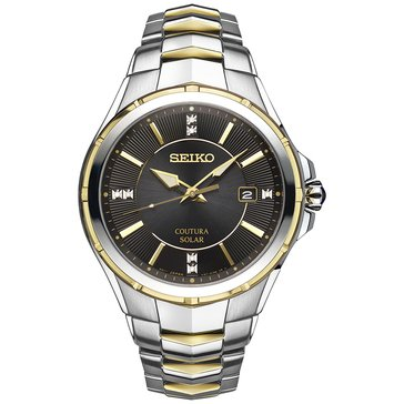 Seiko Men's Solar Coutura Diamond Accent Two-Tone Watch, 43mm