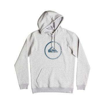Quiksilver Little Boys' Big Logo Pullover Hoodie, Light Grey