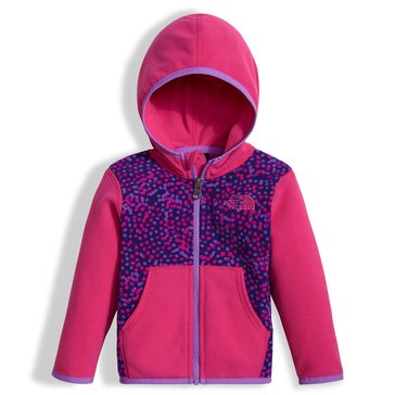 The North Face Baby Girls' Glacier Zip Hoodie, Bright Navy Dot