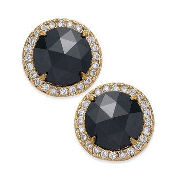 Kate Spade 'Bright Ideas' Pave Halo Stud Earrings, Jet