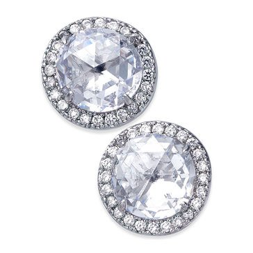 Kate Spade 'Bright Ideas' Pave Halo Clear Stud Earrings