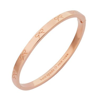 Kate Spade 'Heavy Metals' Engraved Bow Bangle