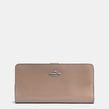 Coach Smooth Leather Skinny Wallet Sv/ Stone