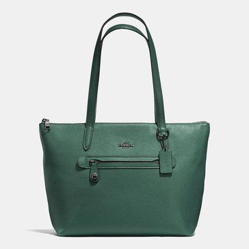 Coach Polished Pebble Taylor Tote Dark Turquoise