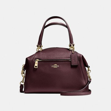 Coach Polished Pebble Prairie Satchel Oxblood