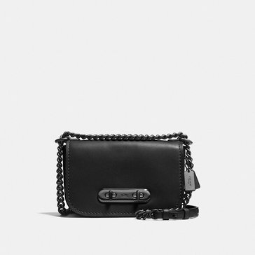 Coach Glovetan Refresh Coach Swagger 20 Satchel Black/ Oxblood
