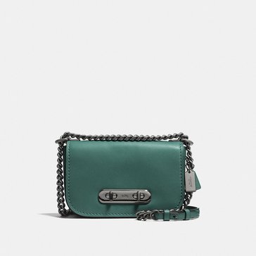 Coach Glovetan Refresh Coach Swagger 20 Satchel Dark Turquoise/ Black