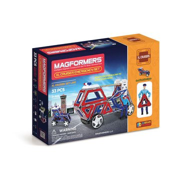 Magformers XL Cruisers Emergency 33-Piece Set