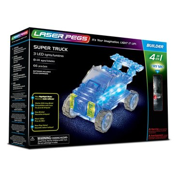 Laser Pegs 4-in-1 Super Truck Building Set