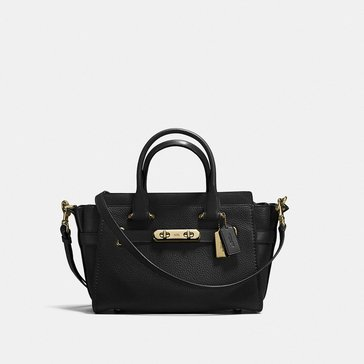 Coach Pebble Refresh Coach Swagger 27 Satchel Black