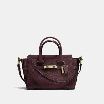 Coach Pebble Refresh Coach Swagger 27 Satchel Oxblood