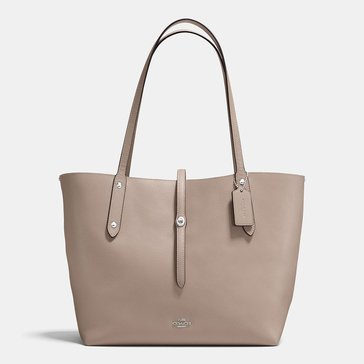 Coach Polished Pebble Market Tote Stone Dusty Rose