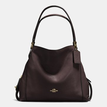 Coach Polished Pebble Edie 31 Chestnut