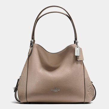 Web Exclusive! Coach Tea Rose Tooling Edie 31 Stone