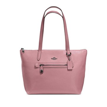 Coach Polished Pebble Taylor Tote Dusty Rose
