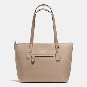 Coach Polished Pebble Taylor Tote Stone