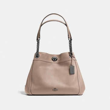 Coach Polished Pebble Turnlock Edie Stone