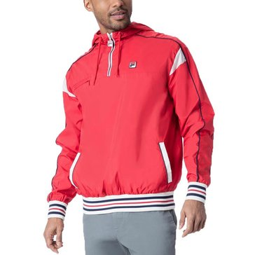 Fila Men's Heritage Mecalle 1/2 Zip Windbreaker - Red