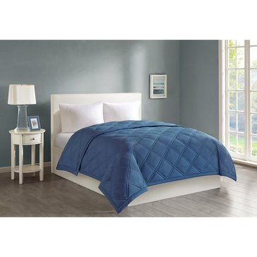 Harbor Home Down Alternative Blanket, Wedgewood Blue - King