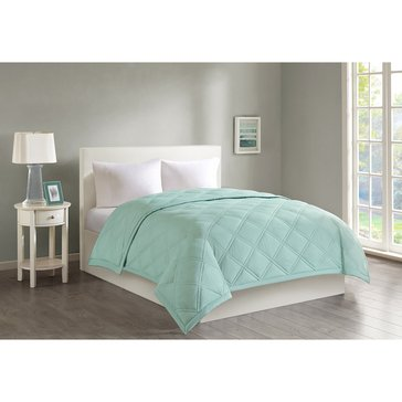 Harbor Home Down Alternative Blanket, Seafoam - Twin