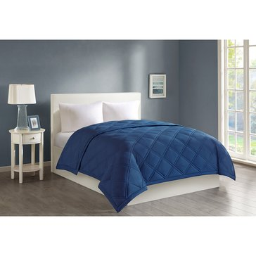 Harbor Home Down Alternative Blanket, Navy - Twin