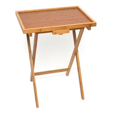 Lipper Set of 2 Bamboo Lipped Snack Tables