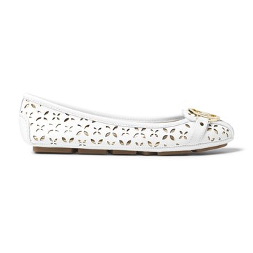 Michael Kors Fulton Moc Women's Slip On Shoe Floral Perf/Metallic Optic White/Pale Gold