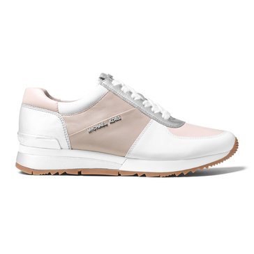 Michael Kors Allie Wrap Trainer Women's Sneaker Cement/Soft Pink