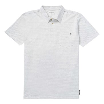 Billabong Men's Standard Issue Short Sleeve Tonal STP Eggshell Polo Shirt