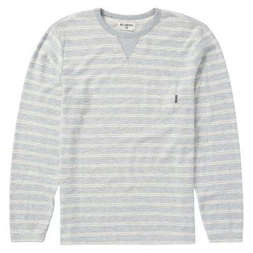 Billabong Men's Flecker Long Sleeve French Terry Crew Fleece