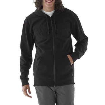 Vans Men's Emboss Em Full Zip Waffle Fleece Hoodie