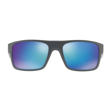 Oakley Men's Drop Point PRIZM Polarized Sunglasses OO9367-0660, Matte Dark Gray/ Sapphire 60mm