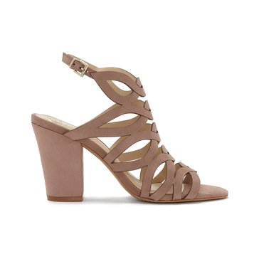 Vince Camuto Norla Women's Caged Block High Heel Sandal Dusty Rose