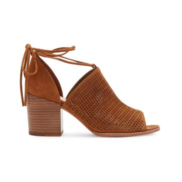 Vince Camuto Lindel Women's High Heel Perforated Shootie Maple Brown